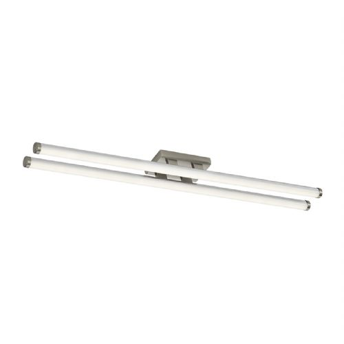 Cuisine Twin Led Ceiling Flush 87CM Brushed Chrome (Class 2 Double Insulated) BXCUI5046-17